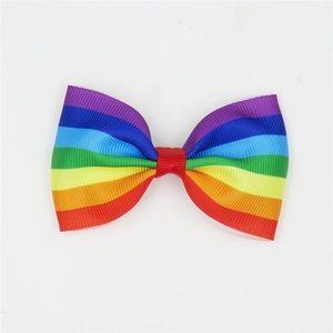 Other - 🌈 Rainbow Bow Grosgrain Ribbon Clip or Hair Tie